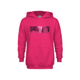 Youth Raspberry Fleece Hoodie-PVAMU Foil