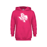 Youth Raspberry Fleece Hoodie-PVAM Texas