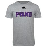 Adidas Sport Grey Logo T Shirt-Arched PVAMU