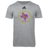 Adidas Sport Grey Logo T Shirt-PVAM Marching Band Seal