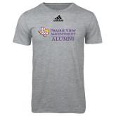 Adidas Sport Grey Logo T Shirt-Alumni