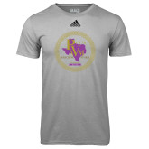 Adidas Climalite Sport Grey Ultimate Performance Tee-PVAM Marching Band Seal