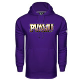 Under Armour Purple Performance Sweats Team Hood-PVAMU