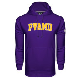 Under Armour Purple Performance Sweats Team Hoodie-Arched PVAMU