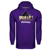 Under Armour Purple Performance Sweats Team Hoodie-Football
