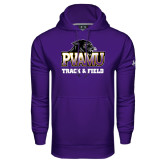 Under Armour Purple Performance Sweats Team Hood-Track & Field
