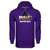 Under Armour Purple Performance Sweats Team Hoodie-Basketball