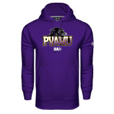 Under Armour Purple Performance Sweats Team Hood-Dad