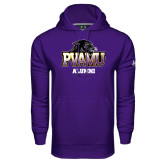 Under Armour Purple Performance Sweats Team Hoodie-Alumni