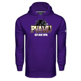 Under Armour Purple Performance Sweats Team Hood-Grandpa