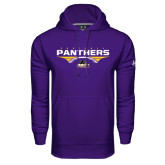 Under Armour Purple Performance Sweats Team Hoodie-Football Design