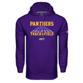 Under Armour Purple Performance Sweats Team Hood-Track & Field Design