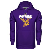 Under Armour Purple Performance Sweats Team Hood-Basketball Design