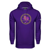 Under Armour Purple Performance Sweats Team Hoodie-PVAM Marching Band Seal