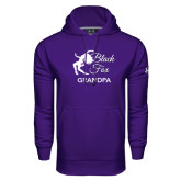 Under Armour Purple Performance Sweats Team Hoodie-Black Fox Grandpa