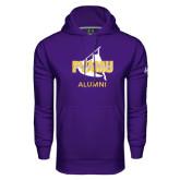 Under Armour Purple Performance Sweats Team Hoodie-Twirling Thunder Alumni