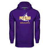 Under Armour Purple Performance Sweats Team Hoodie-Twirling Thunder Grandpa