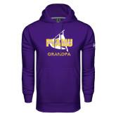 Under Armour Purple Performance Sweats Team Hoodie-Twirling Thunder Grandpa