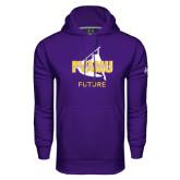 Under Armour Purple Performance Sweats Team Hoodie-Future Twirling Thunder
