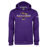 Under Armour Purple Performance Sweats Team Hood-Softball Design