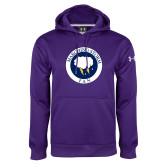 Under Armour Purple Performance Sweats Team Hoodie-Marching Storm Cloud Circle - Fan