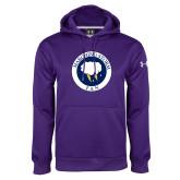 Under Armour Purple Performance Sweats Team Hoodie-Marching Storm Cloud Circle - Fan