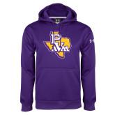 Under Armour Purple Performance Sweats Team Hoodie-PVAM Texas