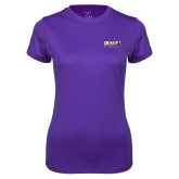 Ladies Syntrel Performance Purple Tee-PVAMU
