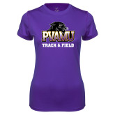 Ladies Syntrel Performance Purple Tee-Track & Field