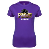 Ladies Syntrel Performance Purple Tee-Alumni