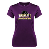 Ladies Syntrel Performance Purple Tee-Athletic Directors Club
