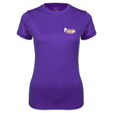 Ladies Syntrel Performance Purple Tee-PV Marching Storm Band