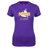 Ladies Syntrel Performance Purple Tee-Twirling Thunder Alumni