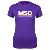 Ladies Syntrel Performance Purple Tee-MSD