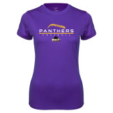Ladies Syntrel Performance Purple Tee-Softball Design