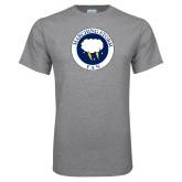 Grey T Shirt-Marching Storm Cloud Circle - Fan
