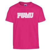 Youth Fuchsia T Shirt-PVAMU