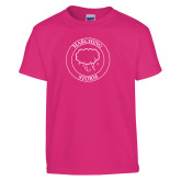 Youth Fuchsia T Shirt-Marching Storm Cloud Circle
