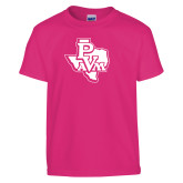 Youth Cyber Pink T Shirt-PVAM Texas