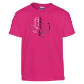 Youth Cyber Pink T Shirt-PVAM Texas  Foil