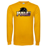 Gold Long Sleeve T Shirt-Official Logo