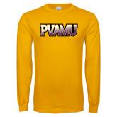 Gold Long Sleeve T Shirt-PVAMU