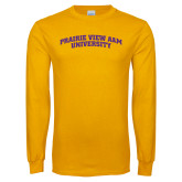 Gold Long Sleeve T Shirt-Arched Prairie View A&M