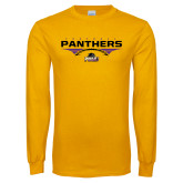 Gold Long Sleeve T Shirt-Football Design