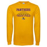 Gold Long Sleeve T Shirt-Track & Field Design