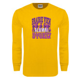 Gold Long Sleeve T Shirt-Praire View marching Storm w/ Majors