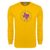 Gold Long Sleeve T Shirt-PVAM Marching Band Seal