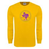 Gold Long Sleeve T Shirt-PVAM Marching Band Seal