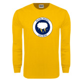 Gold Long Sleeve T Shirt-Marching Storm Cloud Circle