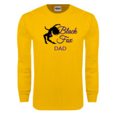Gold Long Sleeve T Shirt-Black Fox Dad